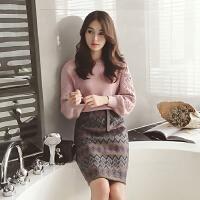 小清新毛衣套装裙子2018新款秋冬女装气质甜美名媛针织时髦两件套