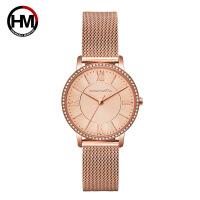 HM新款时尚防水女表 日本芯轻奢石英手表