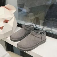雪地靴女短筒韩版百搭学生懒人冬季一脚蹬保暖加绒棉鞋面包鞋女