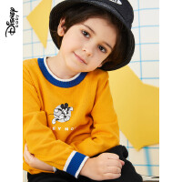 【今日3折�A估�r:52.2元】迪士尼男童�棉打底毛衫2020春秋新款童�b�����和�洋�馓最^上衣潮