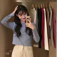 打底衫女春秋2020新款韩版网红修身内搭纯色长袖T恤ins潮超火上衣