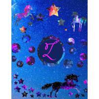 【预订】Starry Unicorns Notebook Monogram Series Z: College Rule
