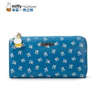 Miffy米菲 2016新款专柜女士钱包 拉链长款多卡位手拿钱包女休闲百搭手拿包