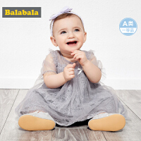 巴拉巴拉女童连衣裙宝宝公主裙儿童裙子洋气周岁礼服甜美网纱裙女