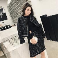 卡贝琳女名媛小香风套装2019新款秋装御姐气质女神范洋气时尚短裙两件套