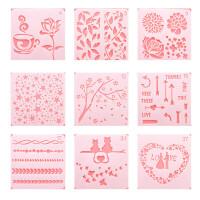 diy相册小手抄报模具手账工具幼儿园儿童主题花边尺镂空绘画模板 整套20张 不同款式