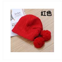 时尚甜美帽子女  韩版潮新款毛线帽双层加厚兔毛贝雷帽保暖御寒