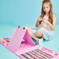 儿童水彩笔美术画画笔套装小学生男女孩生日礼盒绘画工具学习礼品 粉色 176件带画架