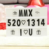 字母灯后备箱惊喜装饰表白神器生日求婚布置创意用品道具浪漫 白色灯箱+90卡片+USB线