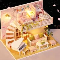 创意手工制作小房子模型拼装玩具生日礼物女diy小屋阁楼