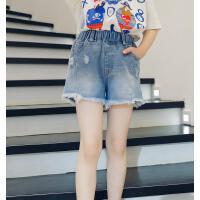 女童短裤夏装儿童牛仔裤外穿女孩夏季中大童百搭裤子