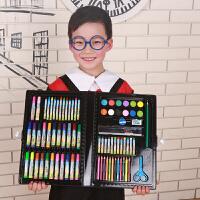 儿童绘画套装工具美术画画学习用品小学生水彩笔套装礼盒生日礼物 黑色99型号