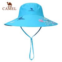 camel骆驼户外女款宽边帽 春夏舒适快干帽子