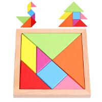 七巧板智力拼图益智巧板拼板儿童古典玩具小学生创意几何形状积木