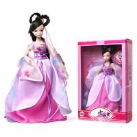 可儿娃娃衣服四季仙子芭古装衣服比儿童关节体洋娃娃女孩玩具礼物套装 标准身高28厘米左右-送迷你娃娃+贴纸