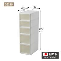日本进口夹缝抽屉式收纳柜塑料多层厨房缝隙储物柜窄柜置物架
