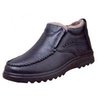棉鞋男中老年人男士冬季保暖加绒滑水加厚爸爸鞋子