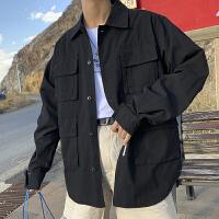 2019春秋季新款男士牛仔外套韩版夹克潮流帅气宽松港风上衣服男装DS325