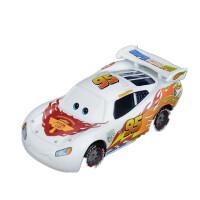 赛车汽车总动员合金玩具车模型板牙黑风暴杰克逊车王 荧光黄 白色麦坤