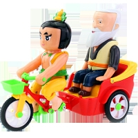 葫芦娃玩具 电动葫芦娃三轮车 葫芦兄弟骑三轮车老爷爷玩具车