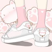 艾米与麦麦2019夏季新款韩版透气小白鞋女镂空网面运动鞋学生洋气百搭可爱软妹板鞋