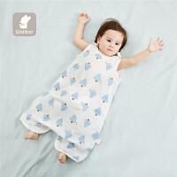 夏季薄款棉小孩分腿宝宝睡袋儿童背心式婴儿睡袋