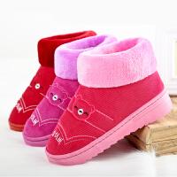 冬季情侣棉拖鞋家居家用女式室内厚底保暖鞋高包跟带后跟月子棉鞋