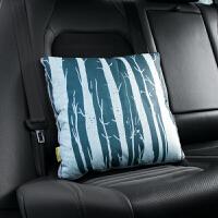 汽车用卡通抱枕被子两用北欧棉麻靠枕办公室午休枕毯子车载空调被定制