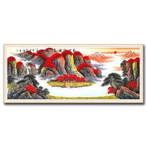 国家一级美术师 范海 《万山红遍DW80》