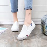 女鞋女孩帆布鞋2019新款韩版鞋子学生白色板鞋中大童小白鞋女布鞋