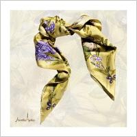 蒙马特大街艺术衍生品真丝围巾丝巾女式古典传统东方百搭民族花鸟