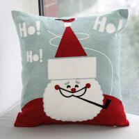 绣花抱枕 可拆洗靠枕套汽车客厅沙发布艺不含芯圣诞靠垫定制