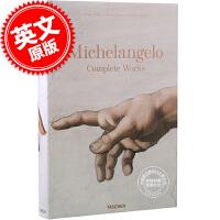 现货 英文原版 Michelangelo: Complete Works 米开朗基罗作品全集 油画与绘画艺术 完整收录