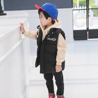 童装棉衣男童羽绒棉马甲宝宝冬季外穿棉背心中小童外套3-9岁