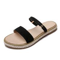 夏季凉拖鞋女外穿时尚2019新款韩版平底凉鞋海边女沙滩度假鞋
