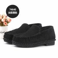 妈妈棉鞋女2018冬季加绒软底滑休闲一脚蹬平跟保暖孕妇鞋