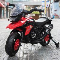 婴儿童电动车摩托车三轮车可坐小孩1-3童车4-5岁宝宝玩具车可坐人zf05 顶配黄色+音乐+灯光+工具