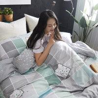 夏季双面天丝四件套 冰丝竹节麻床上用品床单被套4件套1.5m1.8米
