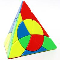 永骏三阶花瓣金字塔魔方 异形魔中魔三角魔方 实色免贴儿童益智玩具