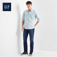 Gap官方旗舰店 男装 青年布长袖纽扣工装衬衫 865525