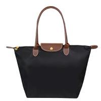 送化妆包加大号男女折叠包旅行购物包袋防水尼龙收纳包 黑