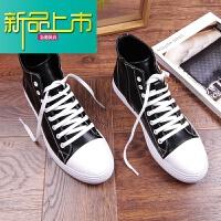新品上市小白鞋高帮男潮鞋韩版休闲鞋男板鞋中帮短靴内增高白皮鞋