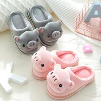 儿童棉拖鞋秋冬2-3岁1女保暖居家包跟中小童宝宝拖鞋