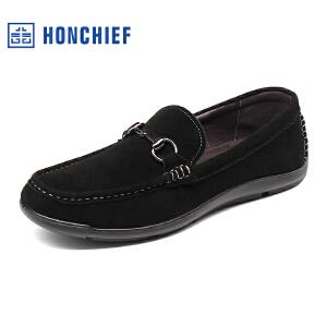 红蜻蜓旗下品牌   HONCHIEF  男鞋休闲皮鞋秋冬休闲鞋子男KTA7208