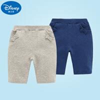 迪士尼婴幼童装女童五分裤宝宝中裤夏装七分裤子全棉婴儿大屁屁裤