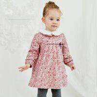 【特惠2件5折�r:149】戴�S�拉女童�B衣裙冬季新款童�b�和�洋�馊棺����加�q公主裙