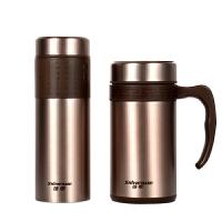不锈钢保温杯 大容量男女直身车载水杯 办公杯带茶隔