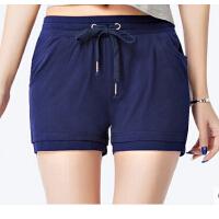 女士韩版新品薄款短裤 直筒运动裤女宽松大码显瘦卫裤热裤J