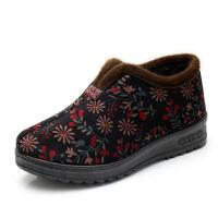 冬季老北京布鞋女棉鞋平底加绒保暖老人奶奶鞋防滑中老年人妈妈鞋
