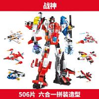 兼容乐高积木拼装六合一变形星球大战金刚机器人45678910周岁男孩儿童益智玩具套装
